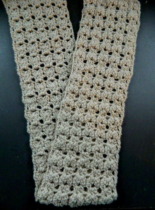 Crocheted Flat Bobble Scarf For The Winter Video And Written