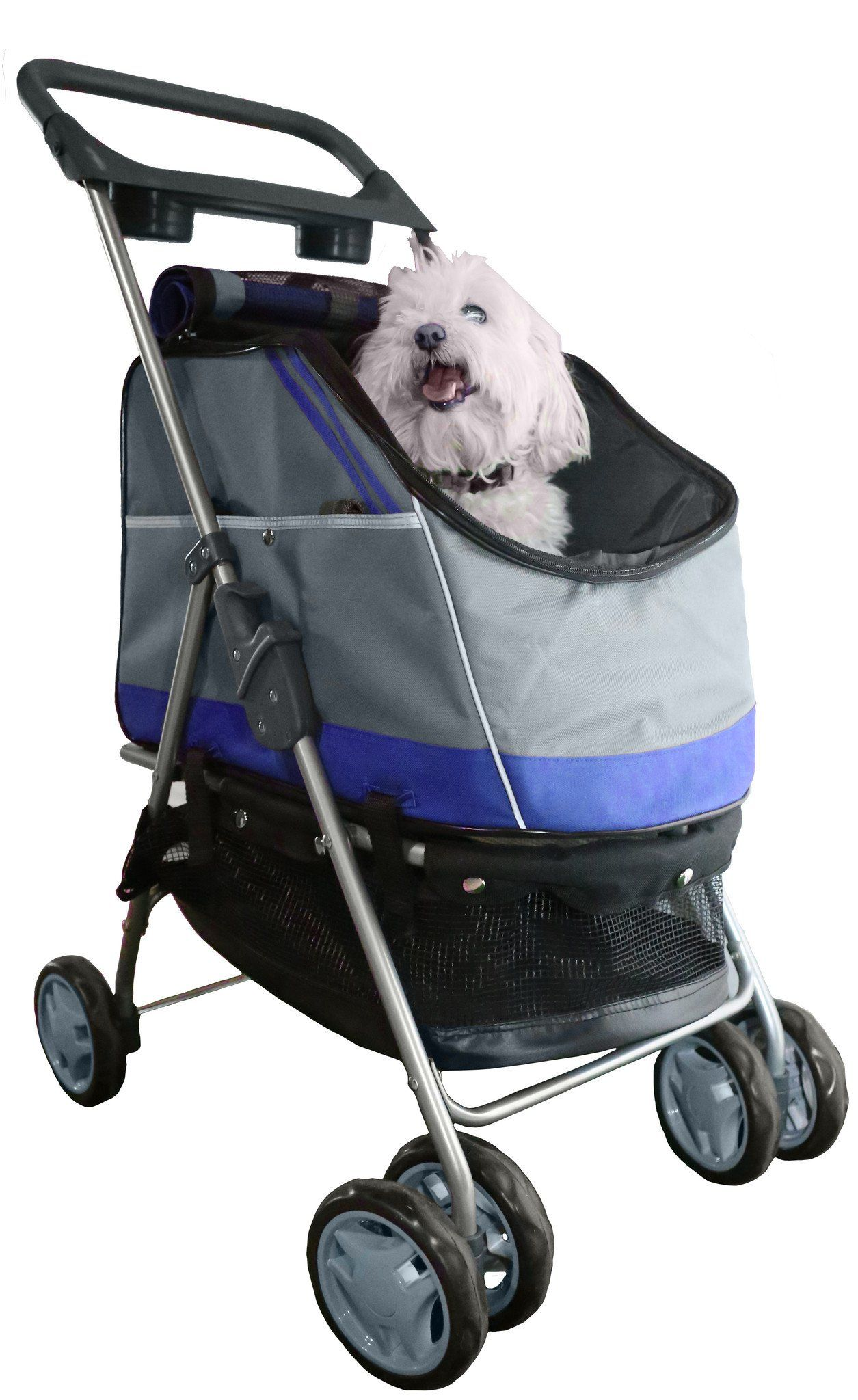 All surface covertible pet stroller and car carrier pet