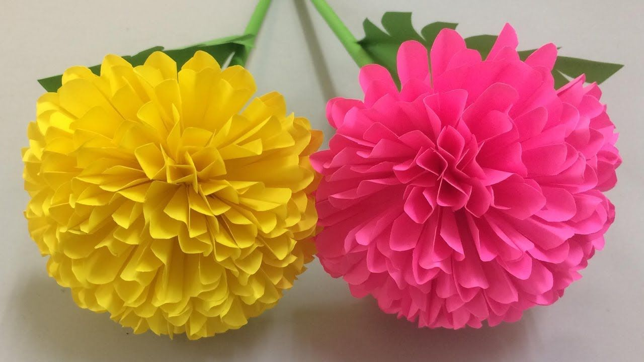 how to make beautiful flower with paper