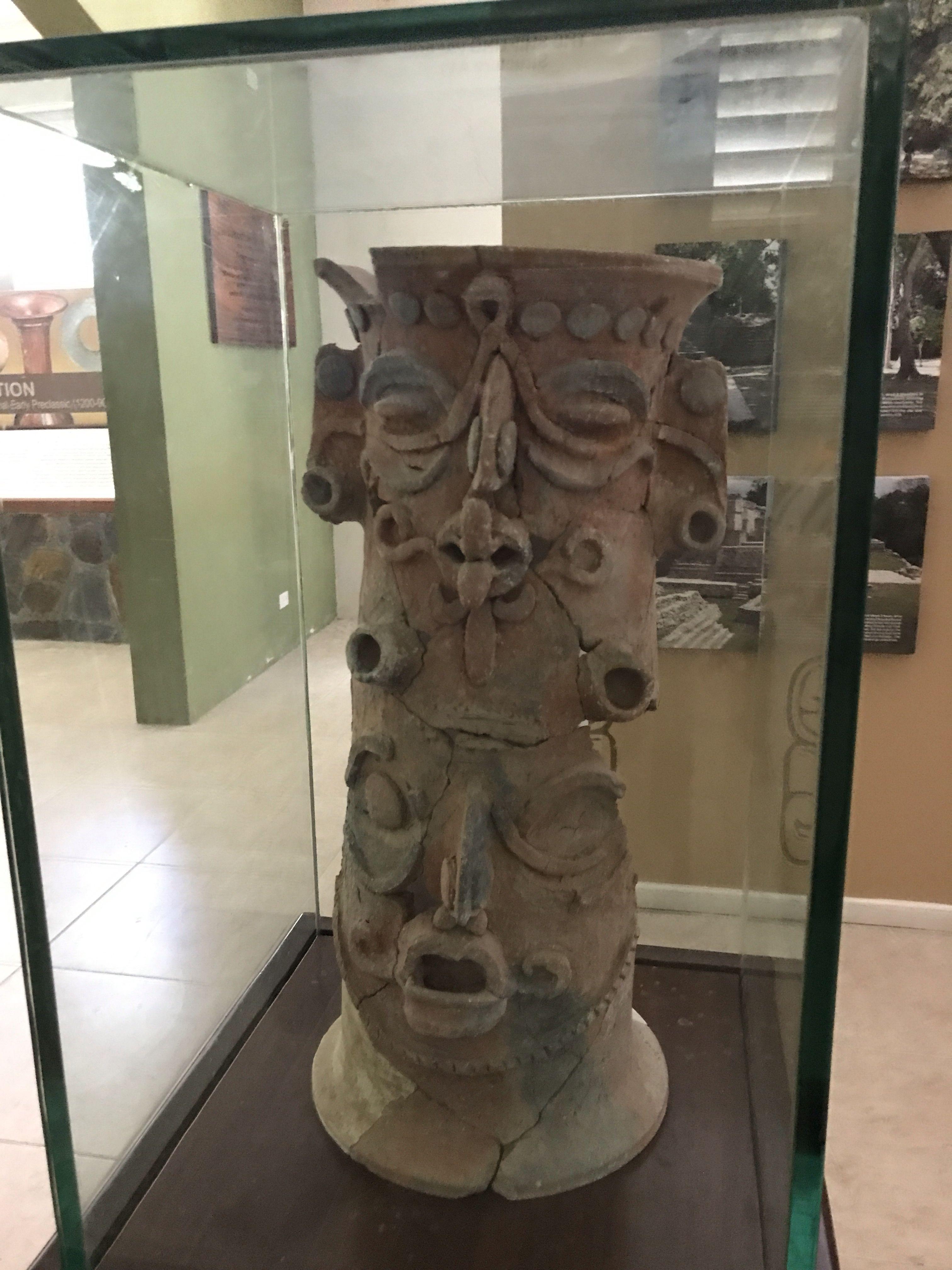 Mayan artifacts at Xunantunich Archeological Reserve. #