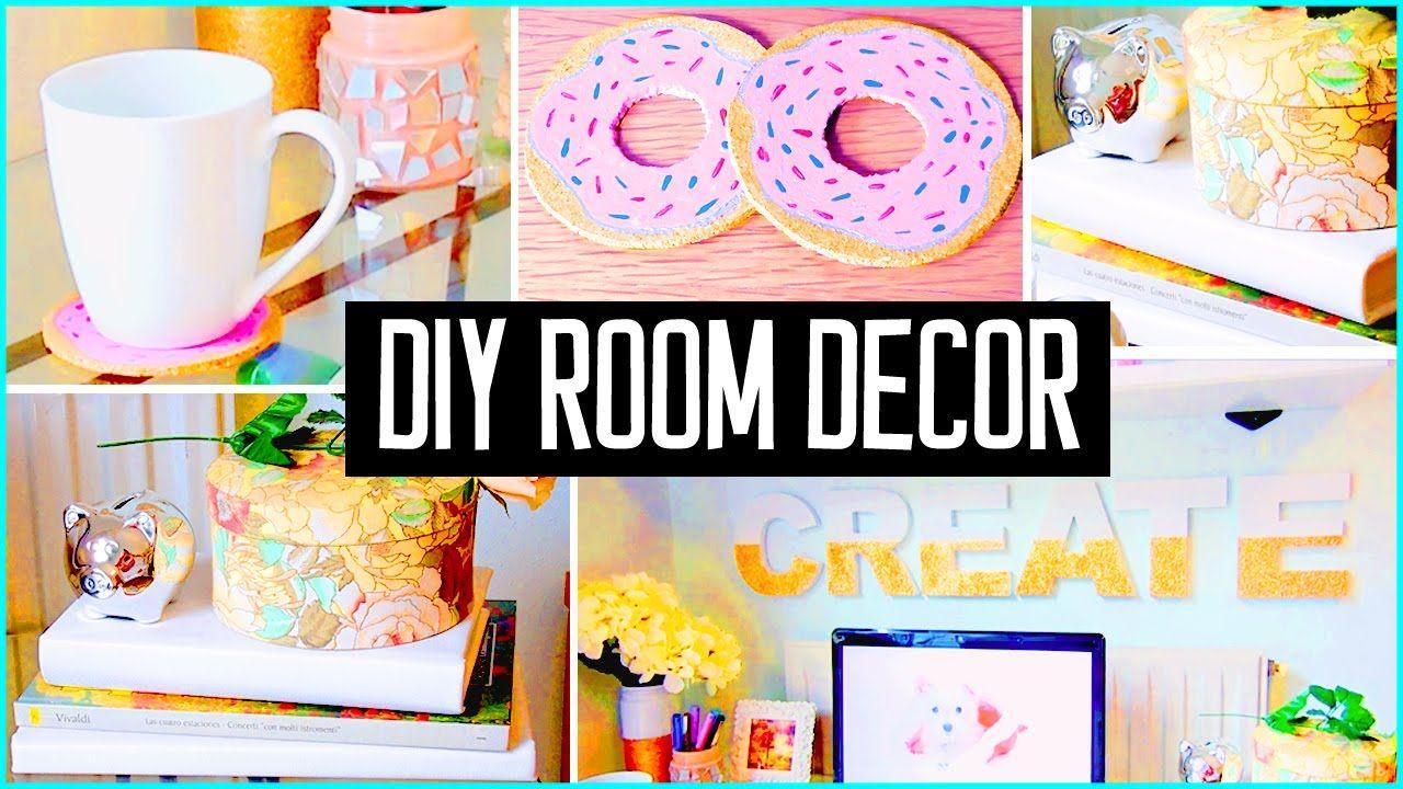 DIY ROOM DECOR! Desk decorations! Cheap & cute projects