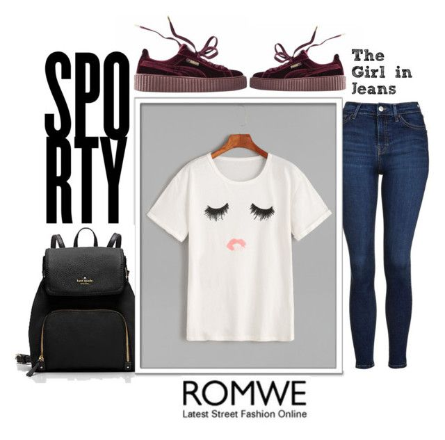 """""""#ROMWE"""" by ermina996 ❤ liked on Polyvore featuring Topshop and Puma"""