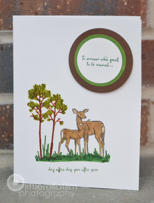 Birthday Greeting Card Deer In Trees Birthday Card For Etsy Birthday Greeting Cards Birthday Cards For Him Birthday Cards