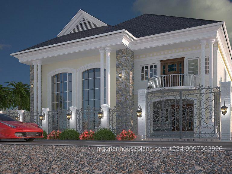 5 Bedroom Duplex Ref 5011 Duplex House Design Porch House Plans Bungalow House Floor Plans