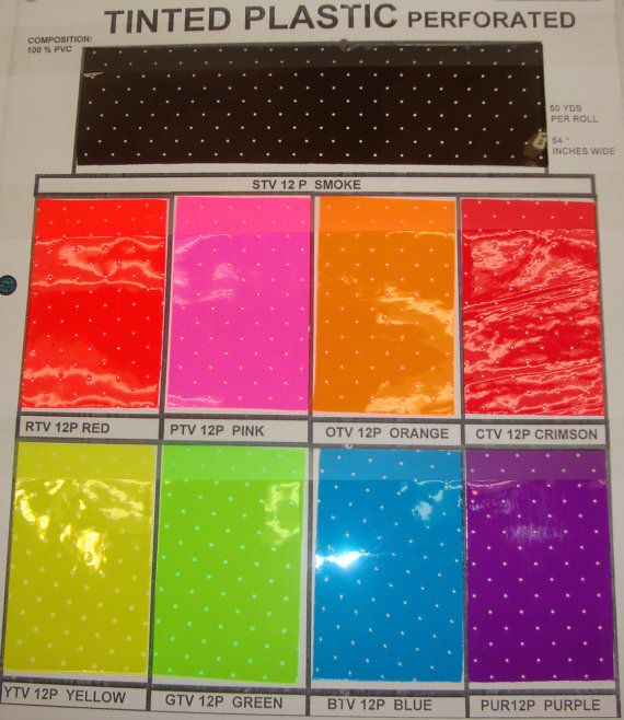 10 Gauge Tinted Perforated Transparent Plastic Vinyl 54 Inch Wide Fabric By The Yard Upholstery Costumes Diy Projects Handbags Shoes Tints Fabric Transparent