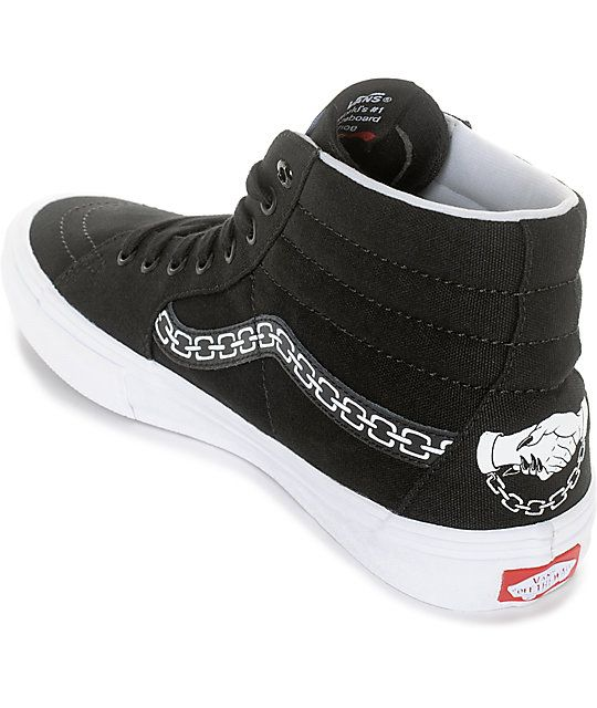 1249d54a872e Vans x Sketchy Tank Sk8-Hi Pro Skate Shoes | New Look | Skate shoes ...