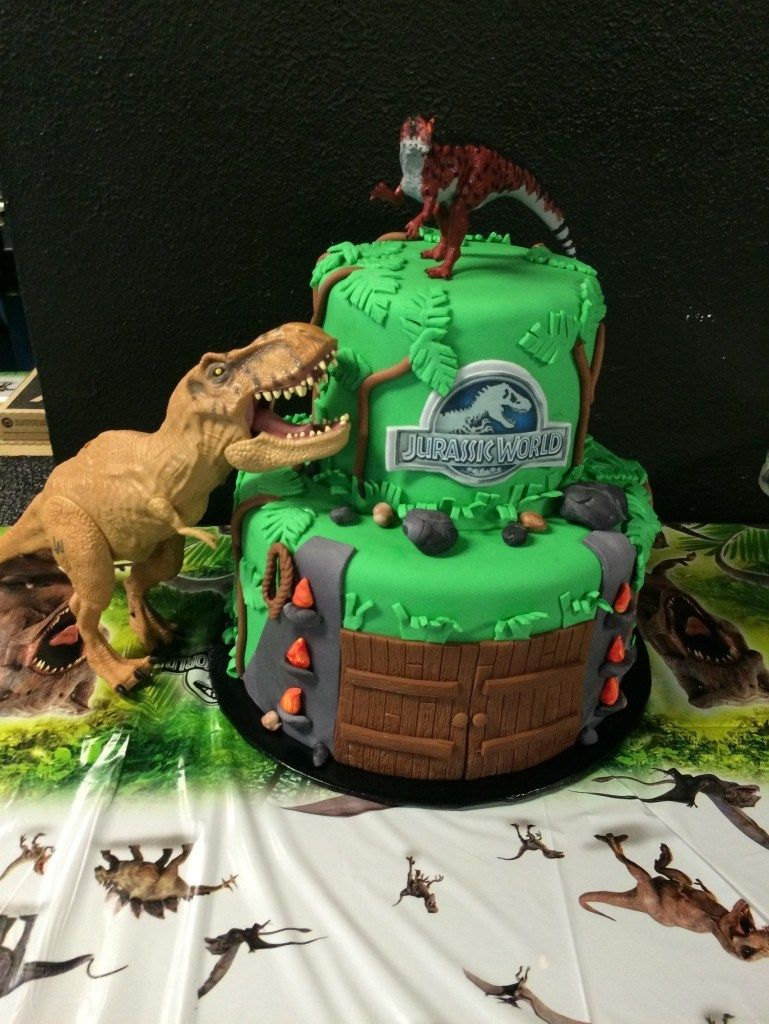30 Amazing Photo Of Jurassic Park Birthday Cake Roaring World Party Counting Candles HappyBirthdayCakes