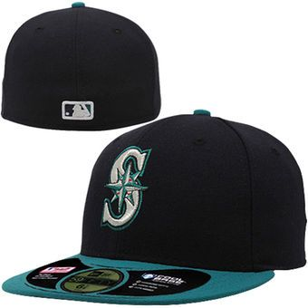 cc1d7814d88 Men s Seattle Mariners New Era Navy Authentic Collection On-Field 59FIFTY  Performance Fitted Hat - Alt