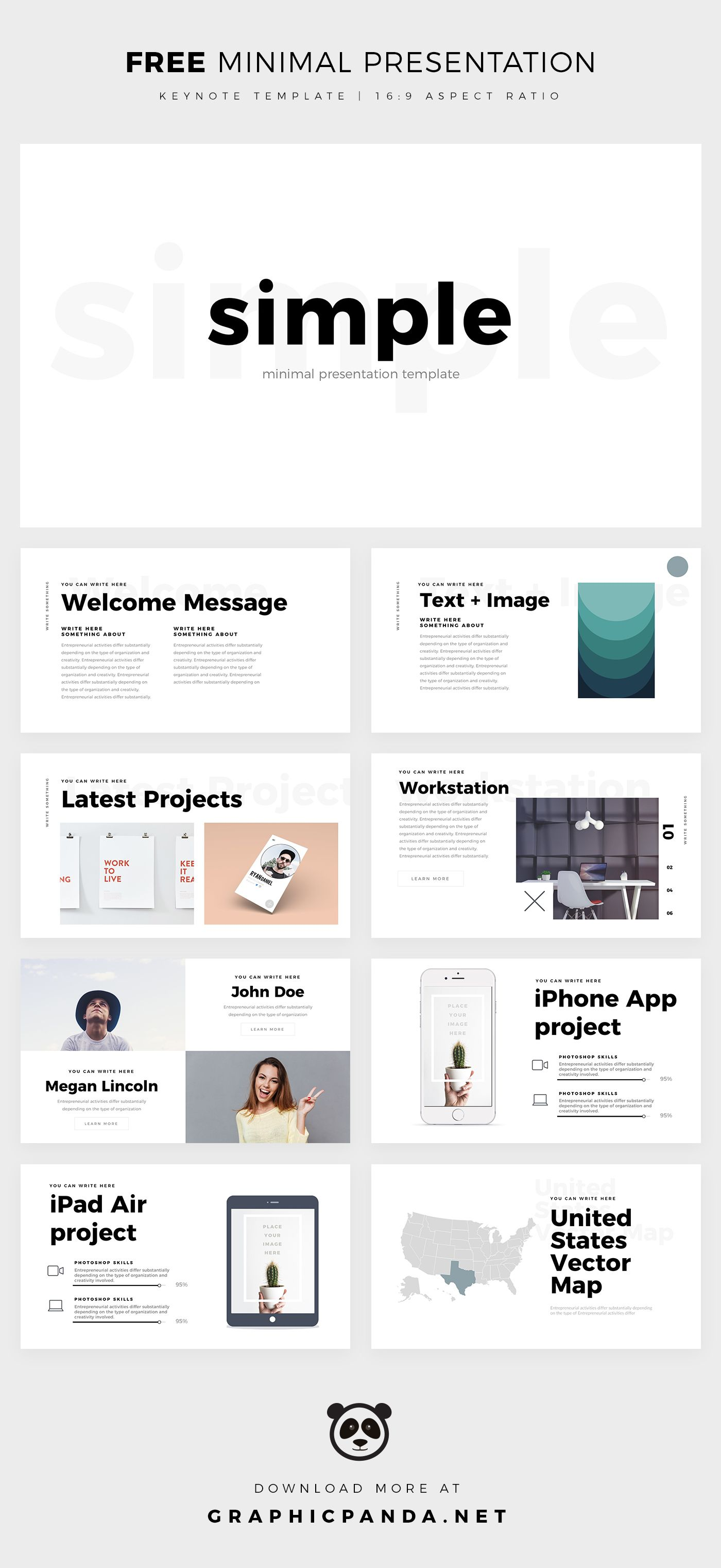 Simple Minimal Keynote Template Powerpoint Design