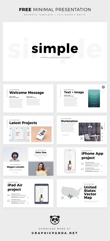 Simple Minimal Keynote Template Powerpoint Design