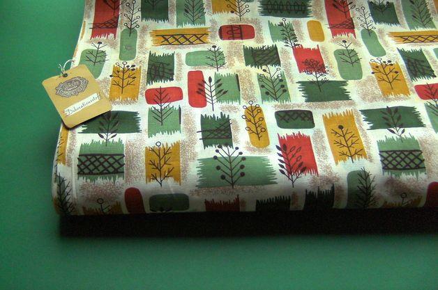 vintage stoffe original 50er jahre stoff mit zeittypischen muster ein designerst ck von. Black Bedroom Furniture Sets. Home Design Ideas