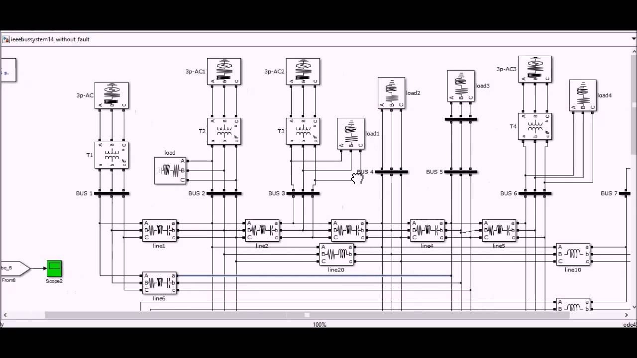 Simulating The Ieee 14 Bus System Simulation La4440 Stereo Amplifier D Mohankumar Audio
