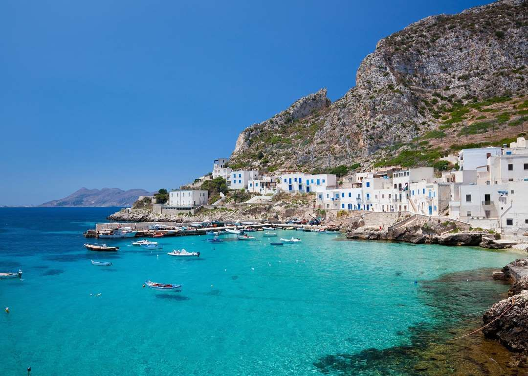 With a population of around 450 and a total area of 2.25 square miles, Levanzo is the smallest of th... - Getty