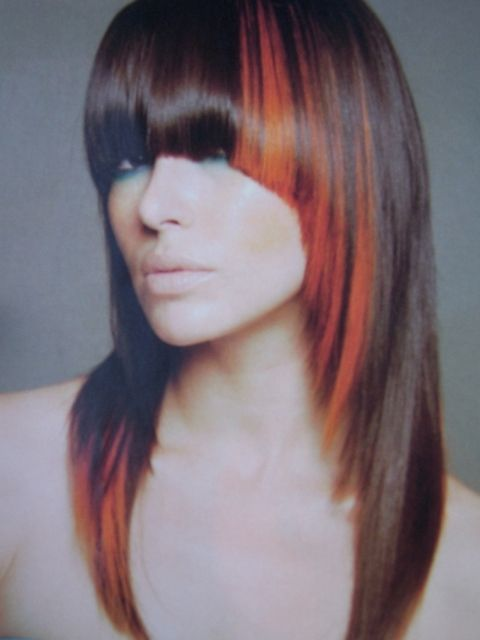 hair color block ombre orange colour block highlights certain look in 2018 hair hair