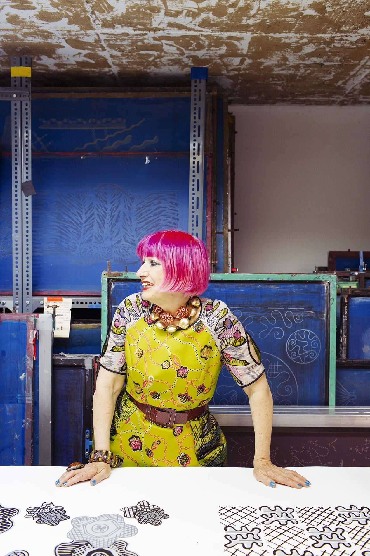 Zandra Rhodes – Fashion Designer at Home and her Studio in London ...