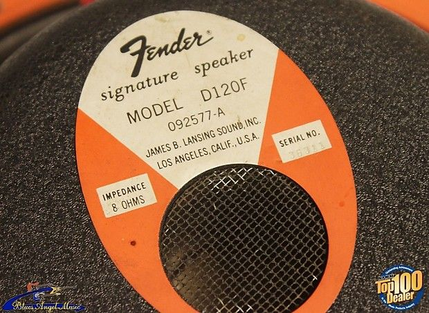 "1973 Fender JBL D120F 12"" Speaker, Original, Strong & 