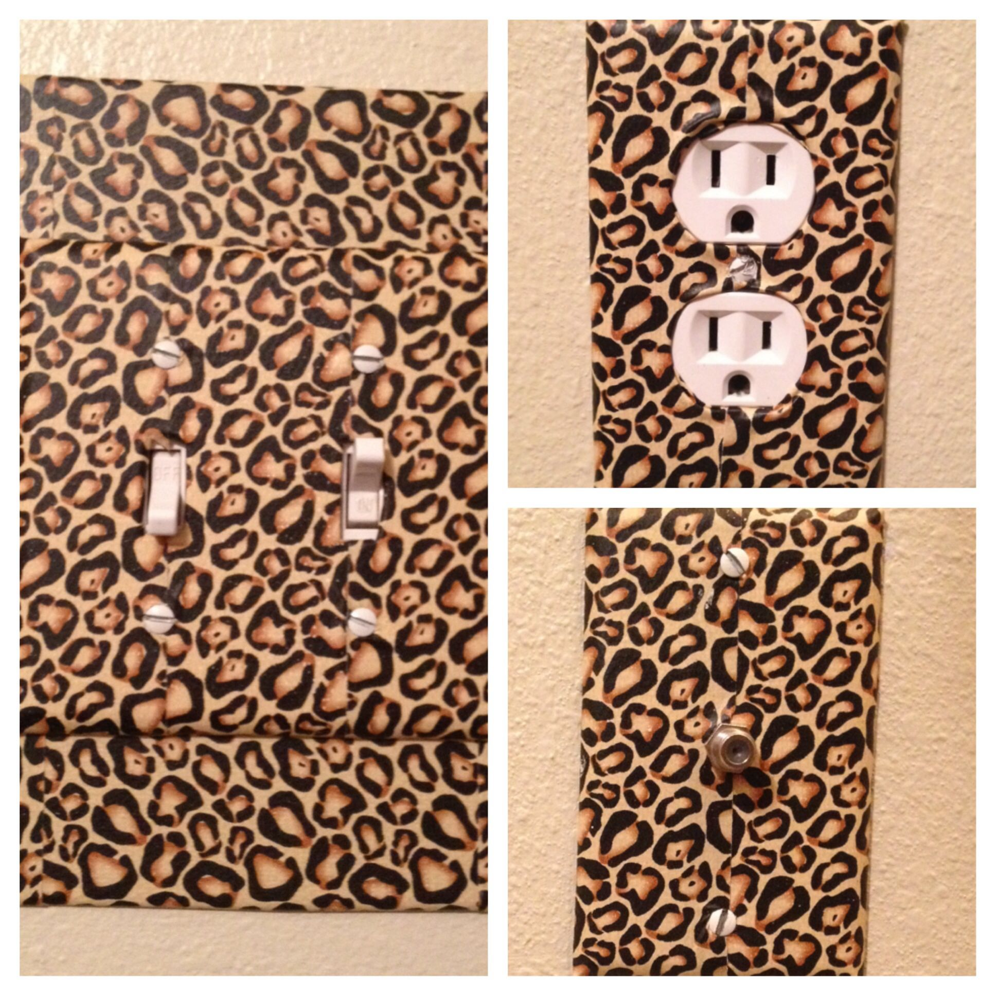 Diy leopard print duct tape light switches outlets tips tricks diy leopard print duct tape light switches outlets mozeypictures Gallery