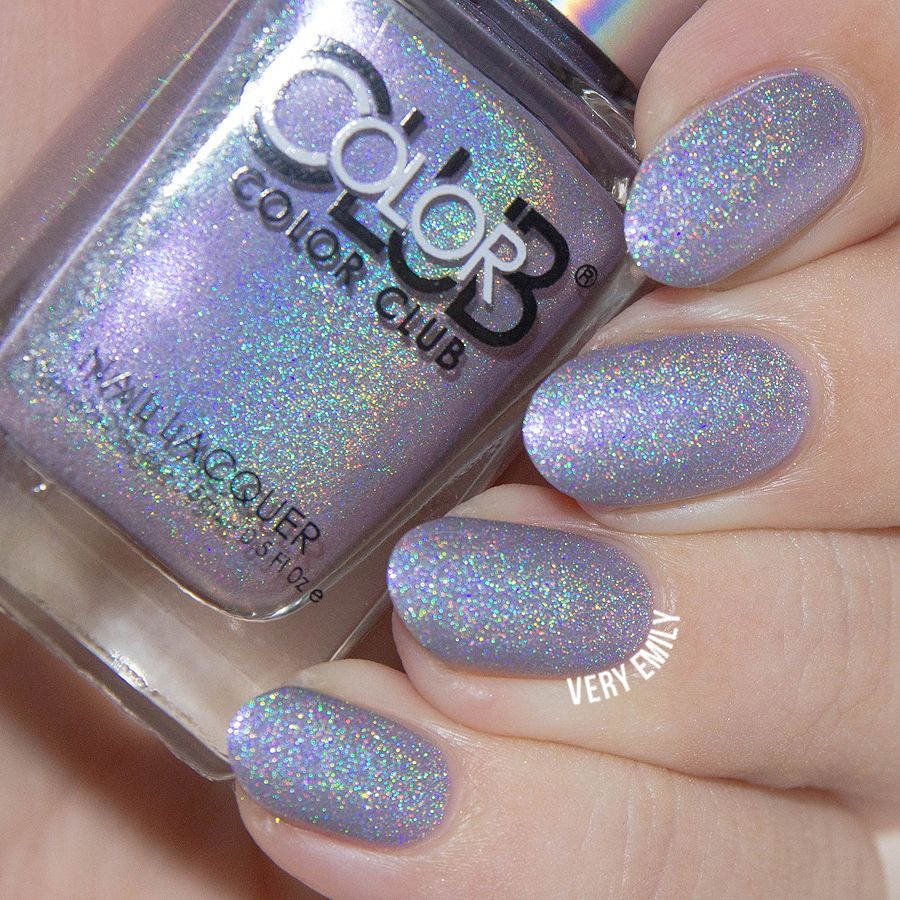 Color Club Holographic Nail Polish Swatches: Color Club Date With Destiny
