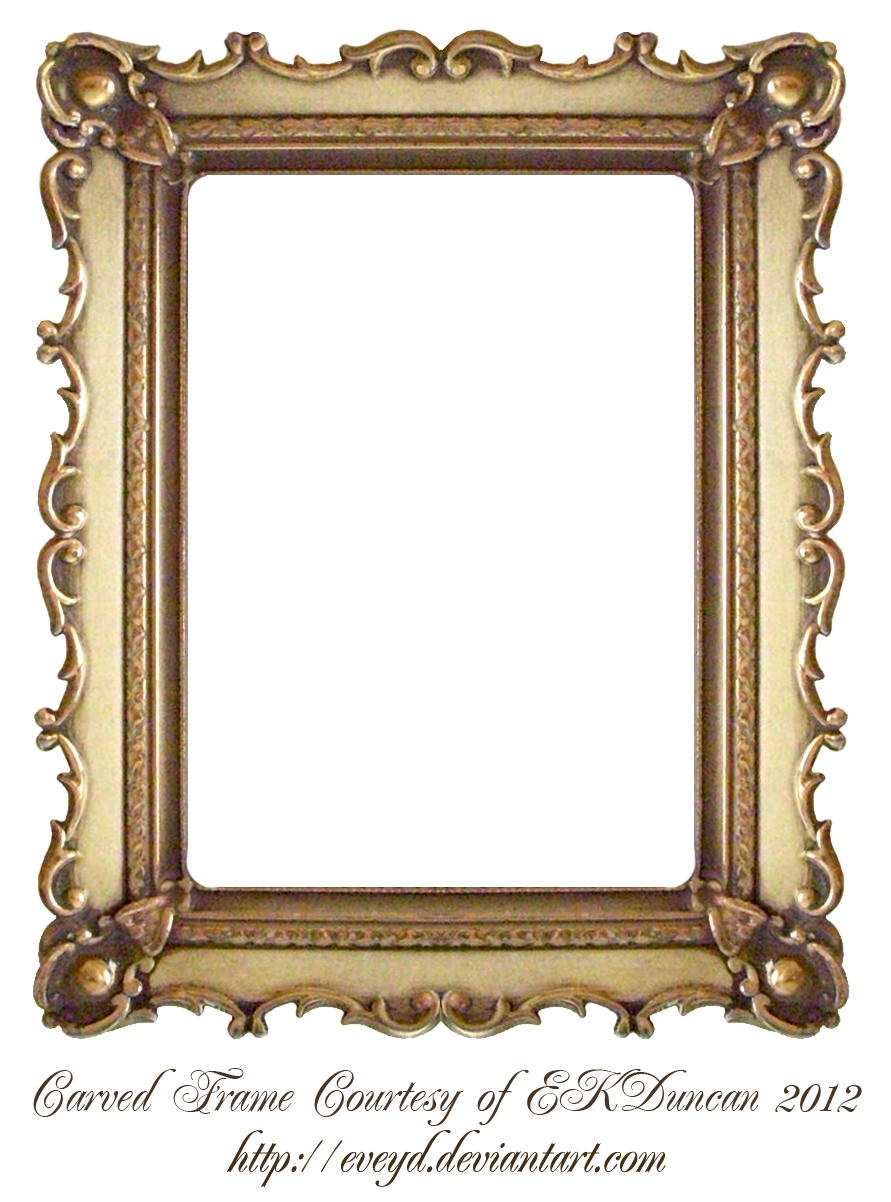 Carved gold frame by ekduncan by on for Molduras cuadros online