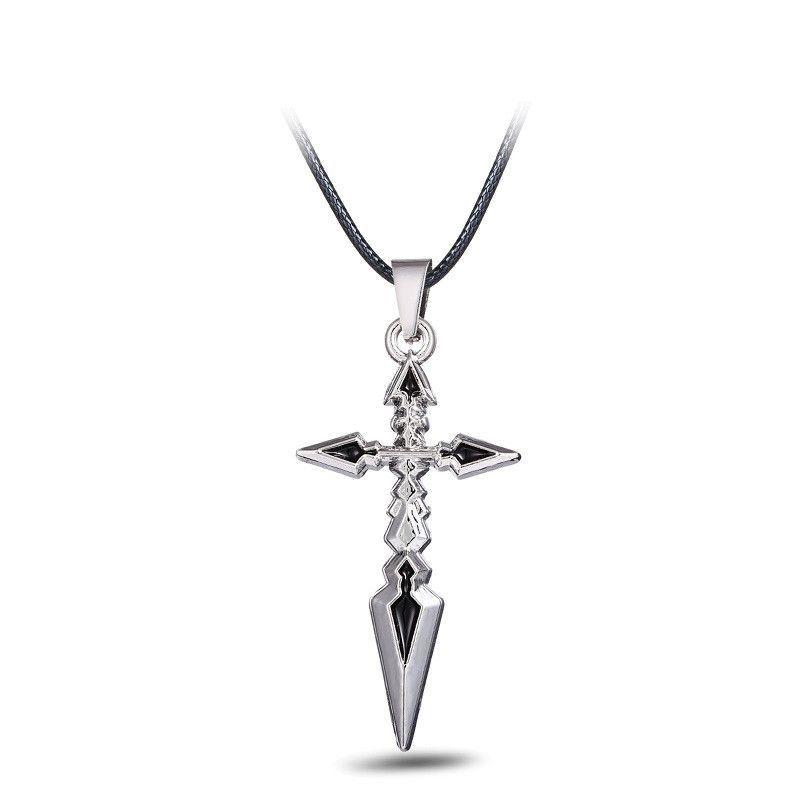 Fate Zero Metal Cross Anime Necklace