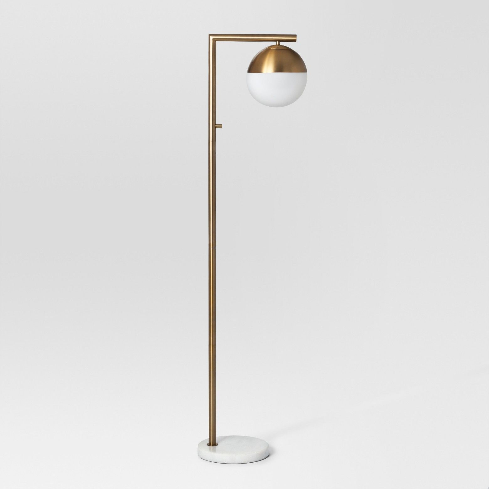 Geneva Single Glass Globe Floor Lamp Brass Includes Energy Efficient Light  Bulb   Project 62™