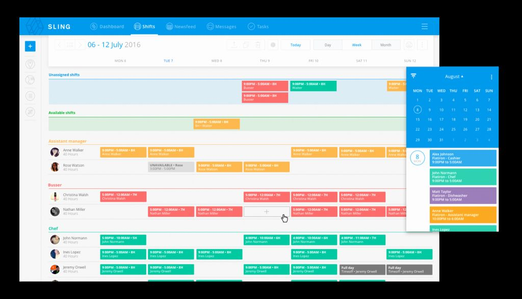 30 Weekly Staffing Schedule Template in 2020   Scheduling ...