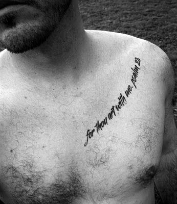 Embedded Permanent Words Of Faith Celtic Tattoos For Men