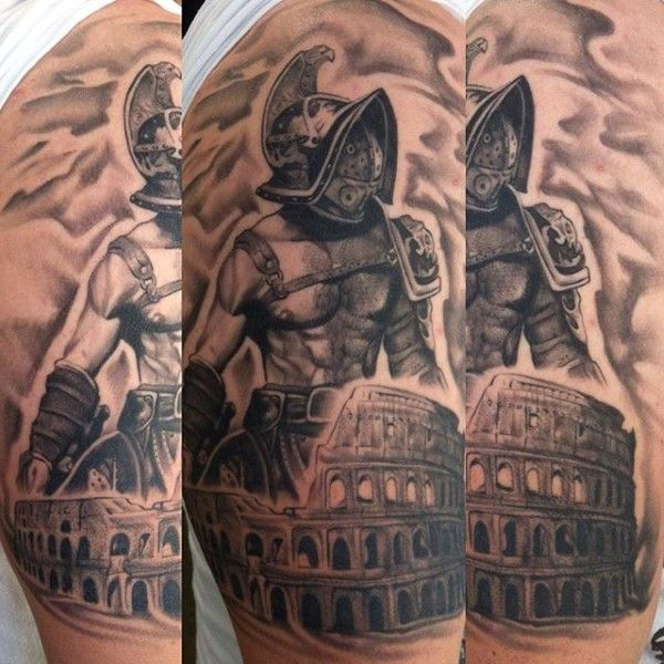 Warrior Gladiator Men's Tattoo | Tatoo | Pinterest ...