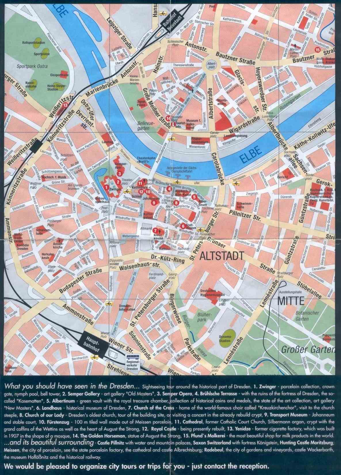 Germany Map Of With An Overview Attractions Fast Dresden Germany Map