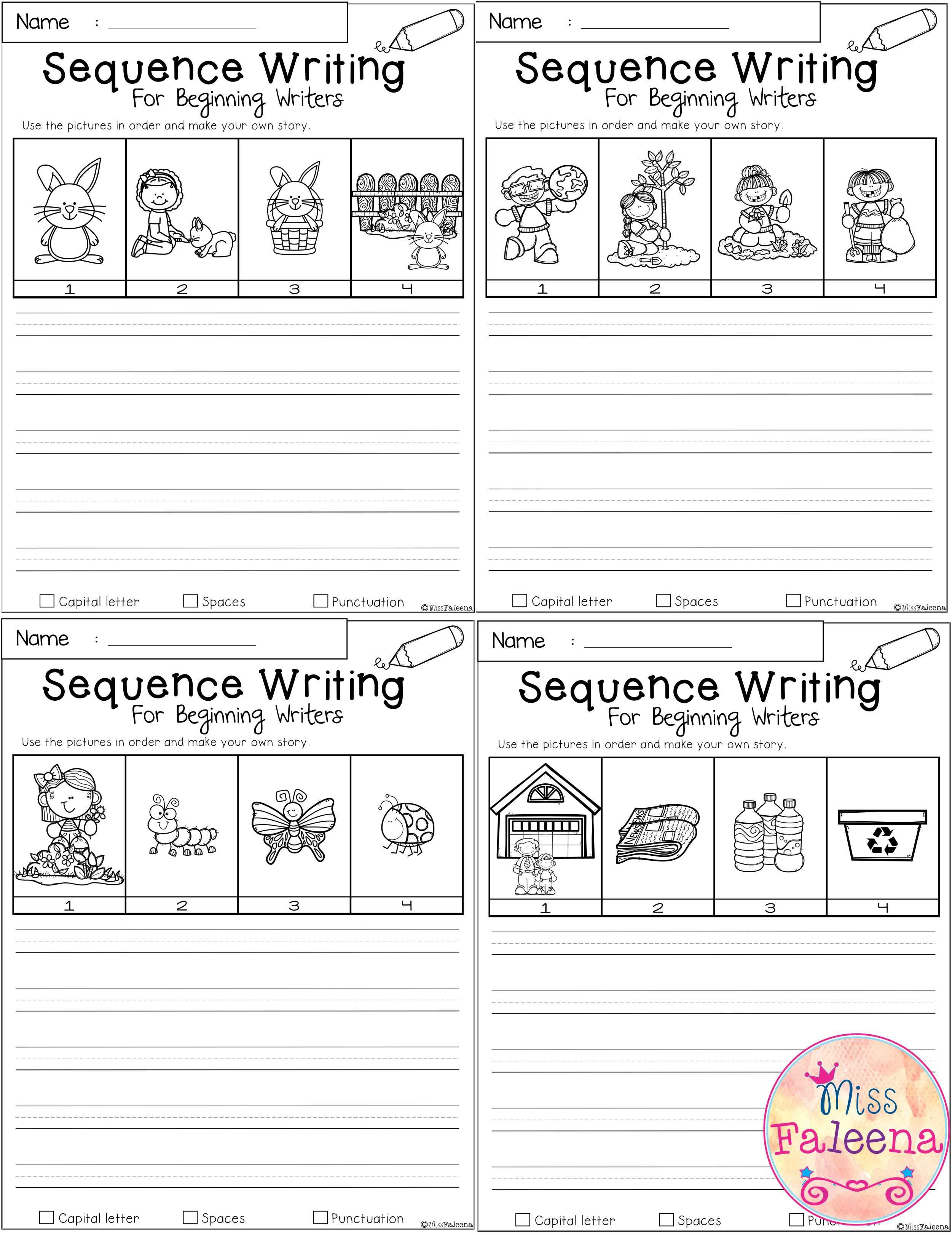 April Sequence Writing For Beginning Writers