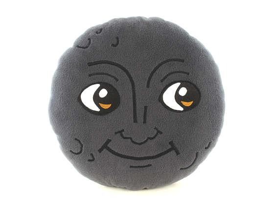 New Moon Face Pillow Creepy Moon Cushion Dark Moon Emoji Etsy Face Pillow Emoji Pillows Moon Face Emoji