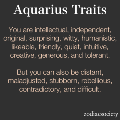 aquarius astrological sign personality traits