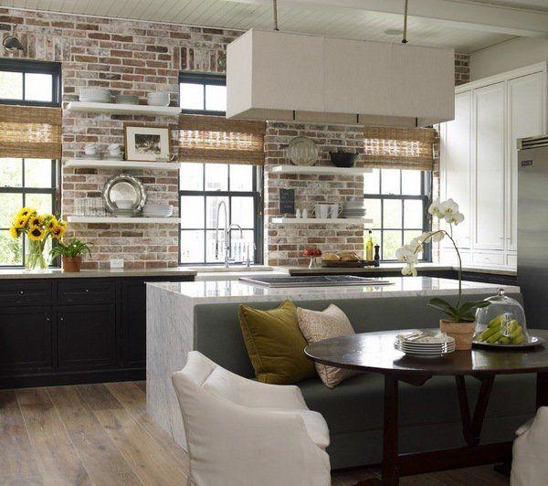 Kitchen Backsplash Shelves brick backsplash ideas contemporary kitchen design dark cabinets