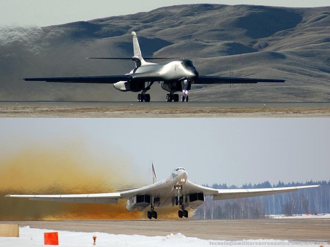 Tupolev Tu-160 Vs Rockwell B1-B by militarytopics | Militar B1 Lancer Vs Tu 160
