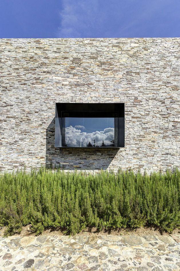 Modern Day Hacienda With Stone Walls House Lk Pinterest