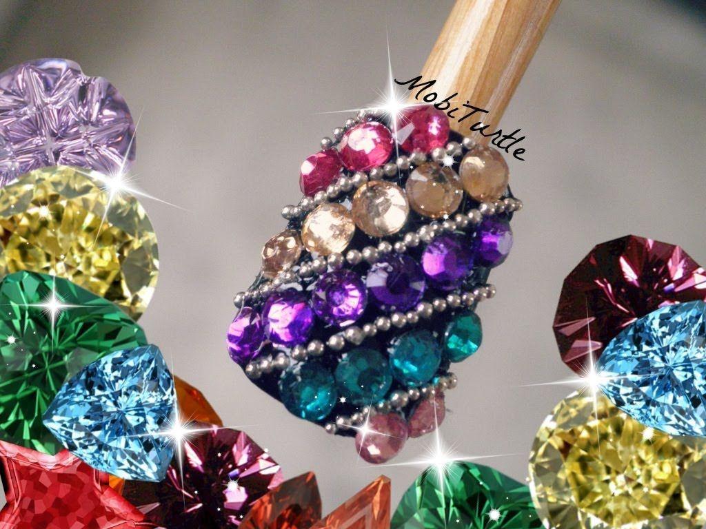 Multi colored swarovskii crystal rhinestones gems beads