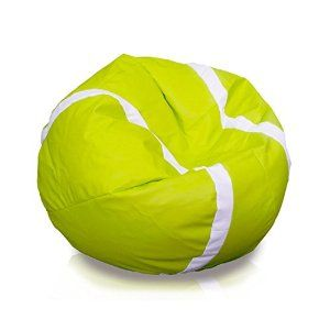 Amazon Com Tennis Ball Style Large Bean Bag Chair Sports Outdoors Bean Bag Chair Bag Chair Large Bean Bag Chairs