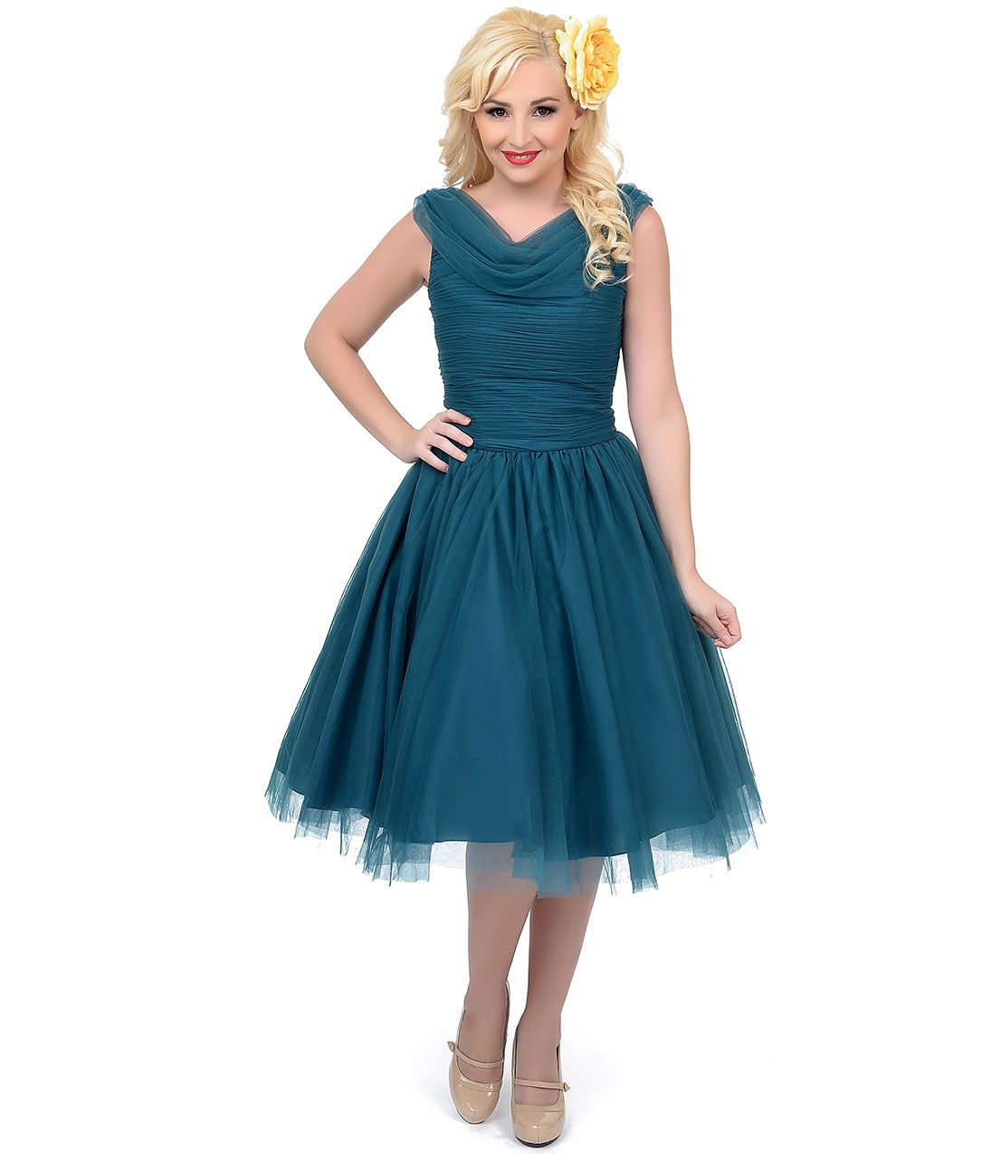 1950s Prom Dresses Formal Dresses Evening Gowns Teal Cocktail Dress Tulle Homecoming Dress Dresses [ 1275 x 1095 Pixel ]