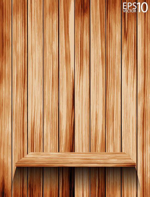 Wooden Bookshelf Background Vector 01 Vector Background Free