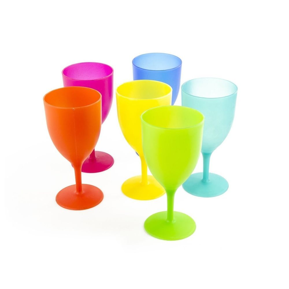 Plastic Goblet Wine Glasses Pool Party Cups Champagne Glass 14oz Reusable Picnic Plasticcups Goblet Win Plastic Wine Glasses Plastic Wine Glass Wine Glasses