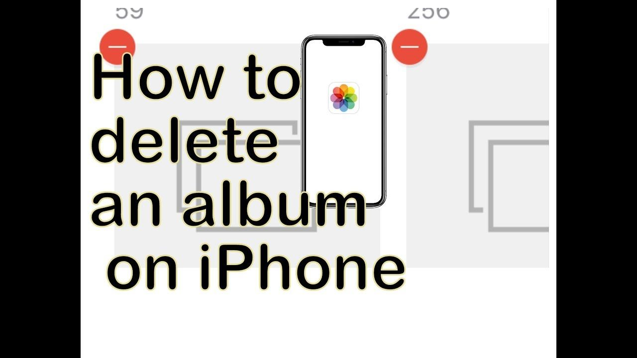 How to delete photos albums in ios 13 ios 12 on iphone