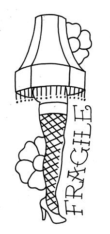 A Christmas Story Lamp Coloring Page The Rusty Needle Tattoo