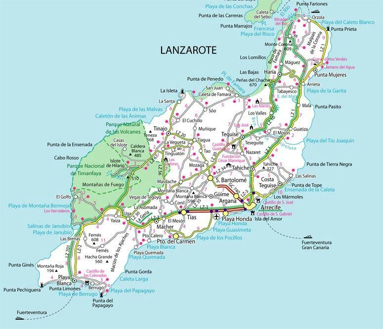 Mapa Lanzarote Lanzarote Mapas La Isleta