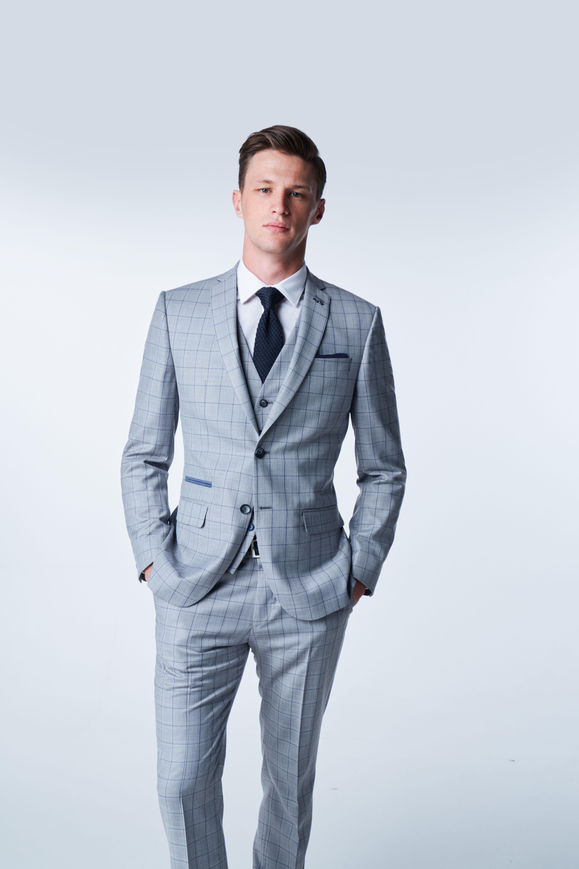 854068956d40 Light Grey Check Suit Summer wedding Antique Rogue | SS19 | Grey ...