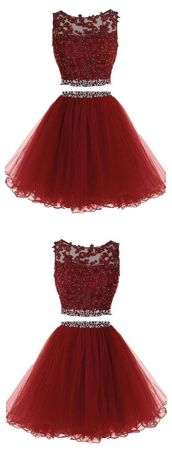 Custom Made Admirable Homecoming Dress 2019, Homecoming Dress Lace, Burgundy Homecoming Dress, Short Homecoming Dress #homecomingdressesshort
