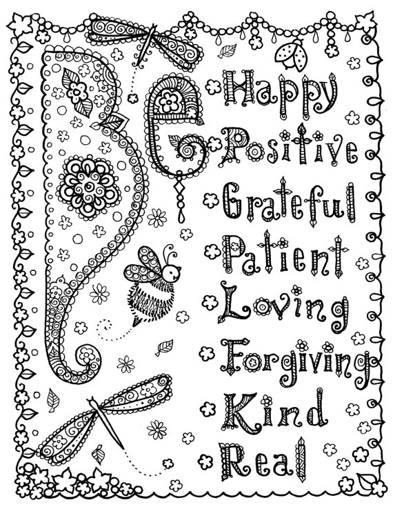 INSTANT Download Coloring Page 9 9/9 x 99 May all things be Free ...