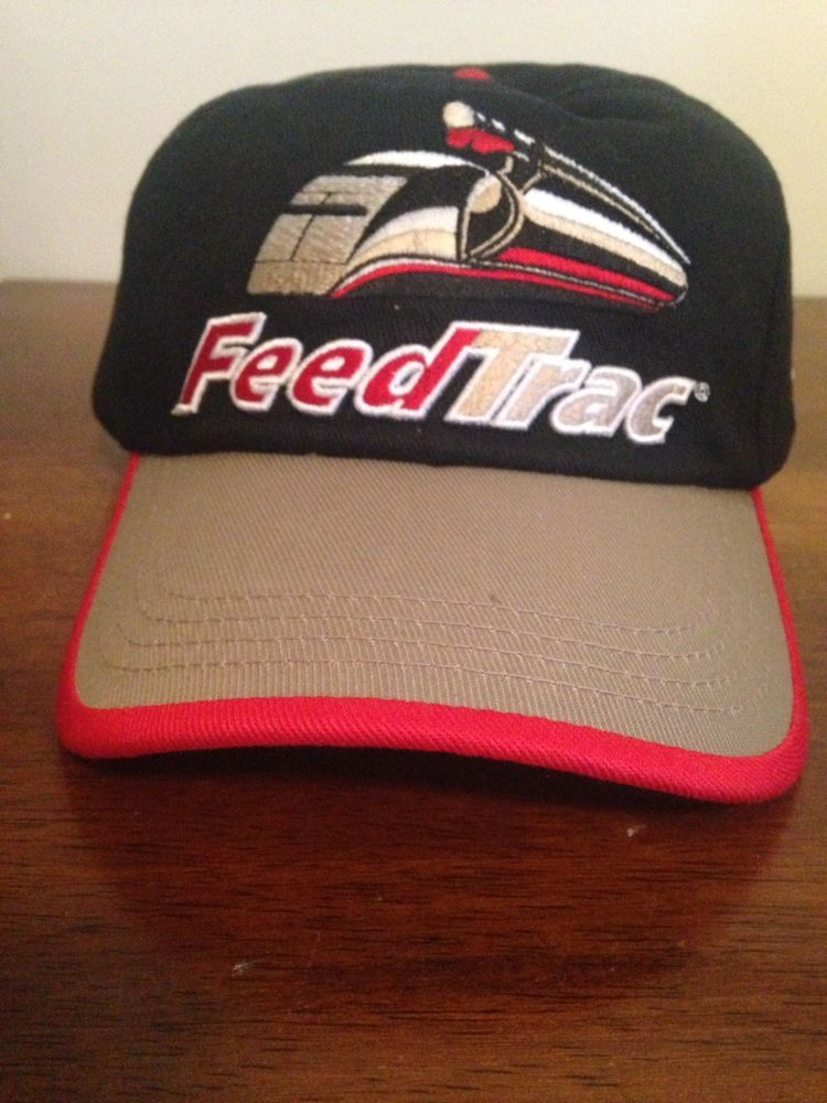 4d16d9dcf17 FeedTrac Hubbard Feeds Inc Black baseball trucker hat New Velcro  fashion   clothing  shoes  accessories  mensaccessories  hats (ebay link)