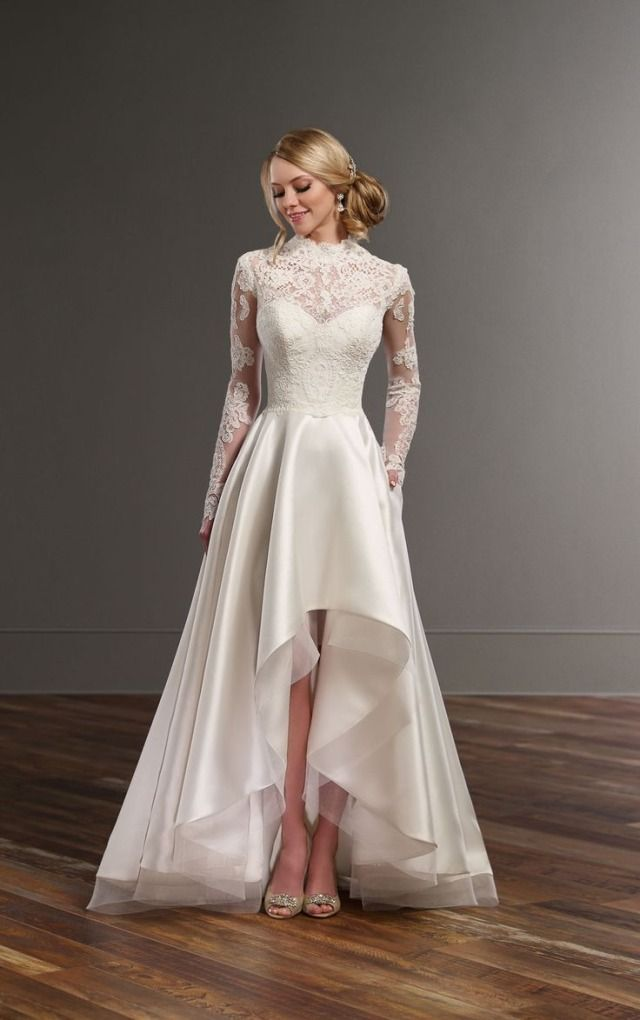 Lace and silk skirt wedding separates - Martina Liana | High low ...