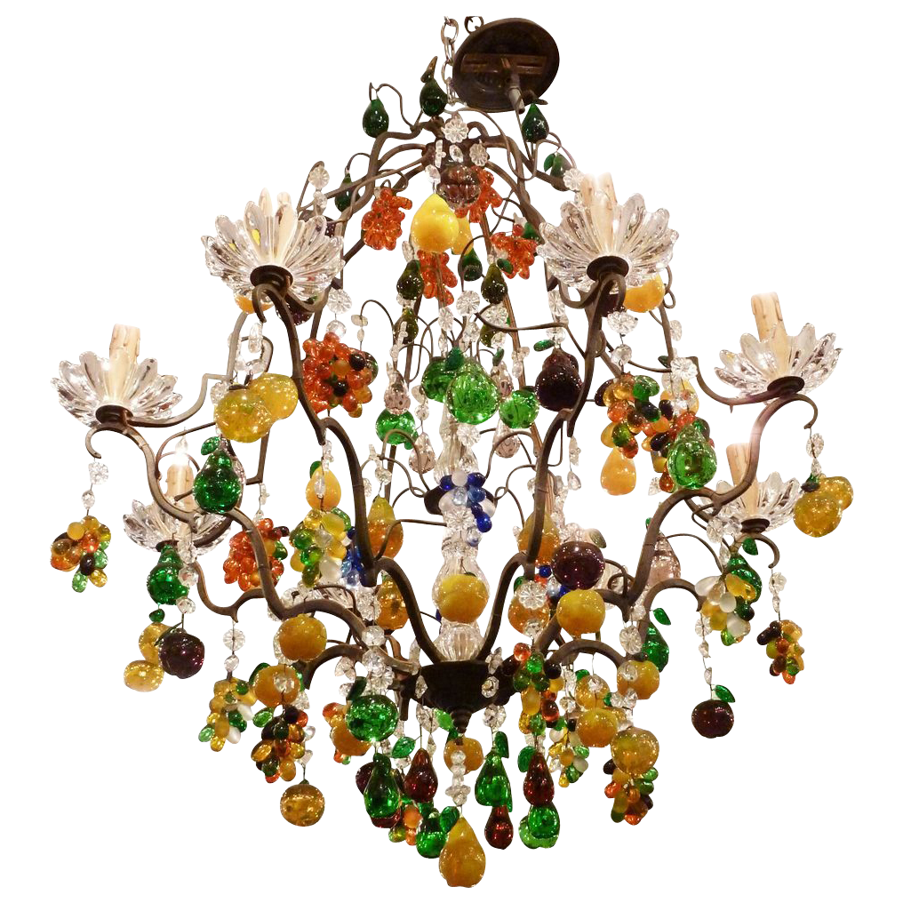 French fruit chandelier with le fanion crystal lighting french fruit chandelier with le fanion crystal mozeypictures Images