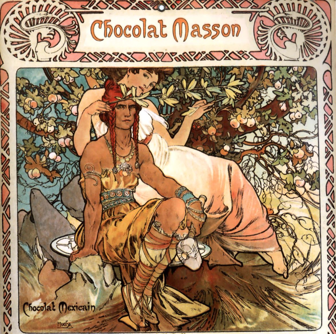 Beautiful Chocolate Advert Mucha Art Alphonse Mucha Art